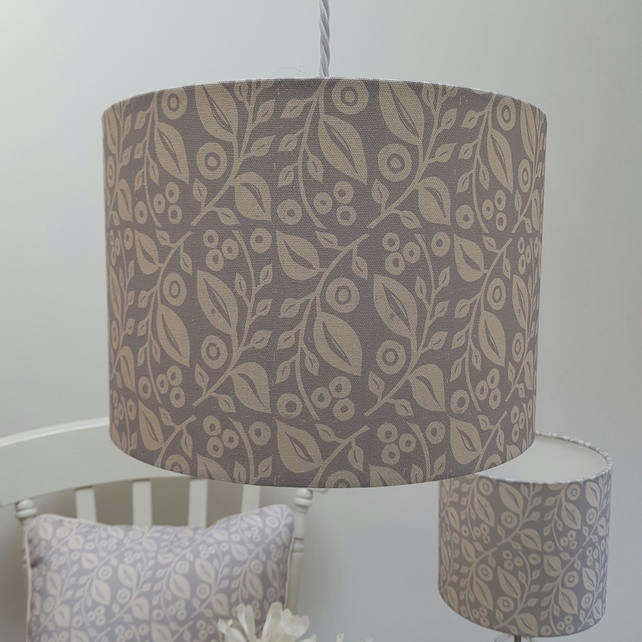 30cm 'Lucy' lampshade in grey REDUCED PRICE!