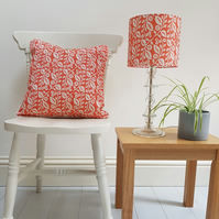 20cm drum Lucy Lampshade in Coral