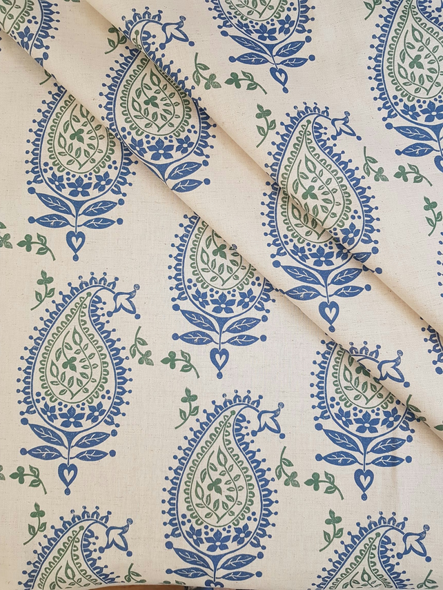 'Josephine' fabric in Blue