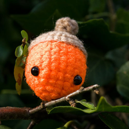 Amigurumi Orange Acorn