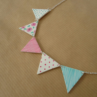 Bunting necklace Handmade british country kitsch jewellery