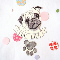 Pug life temporary tattoo