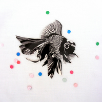 Fish temporary tattoo