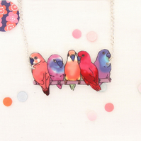 Love Bird necklace pink