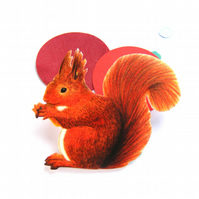 Red Squirrel Brooch illustrative jewellery