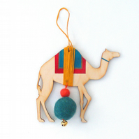 DIY Camel decorations, craft kit, summer decoration, laser cut wood