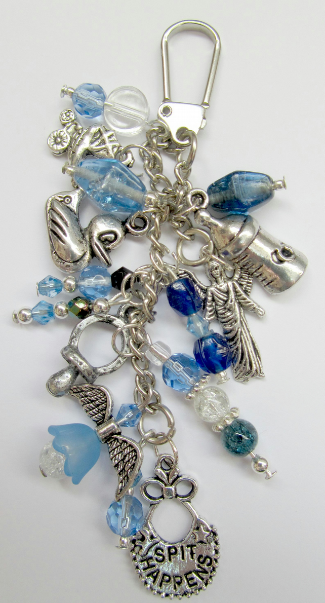 Handmade Blue New Mum Bag Charm