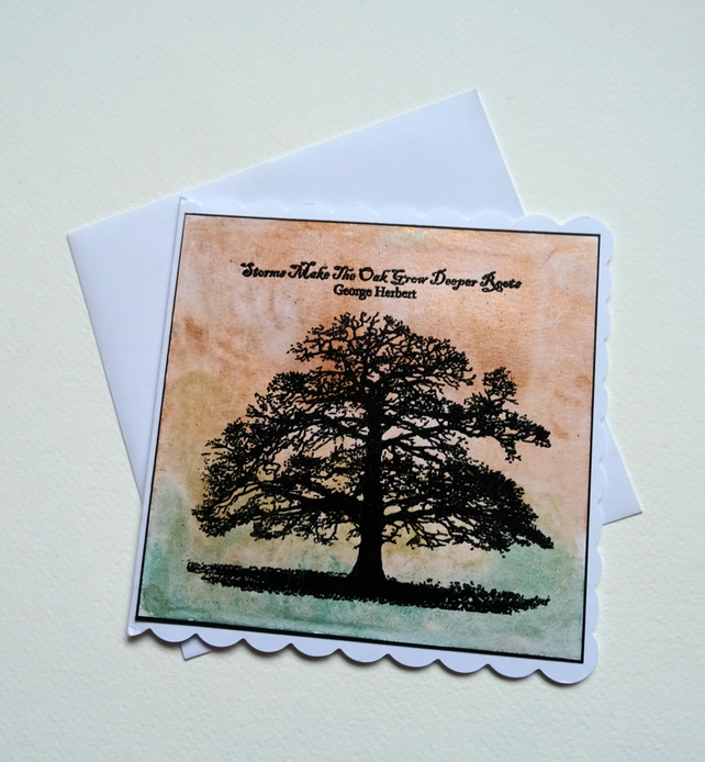 Hand made card. Tree card, Birthday card