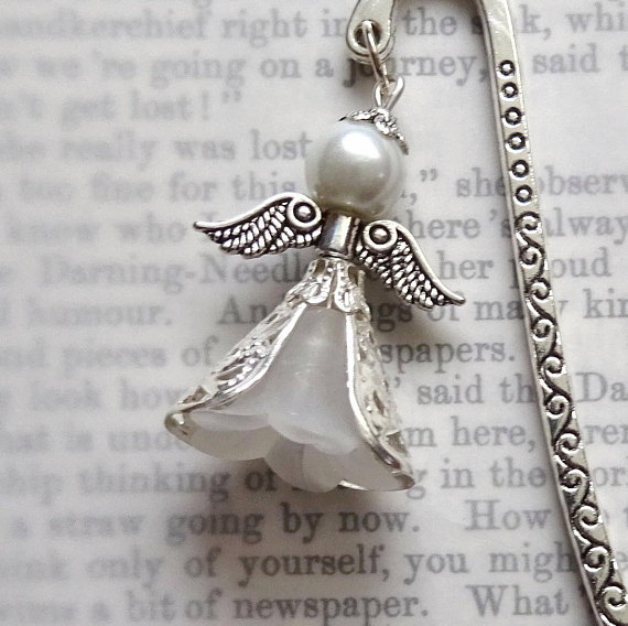 Angel book mark, Confirmation gift, Filigree angel