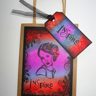 Gift bag, Lady gift bag, Bag n tag, Present bag, Glamorous lady