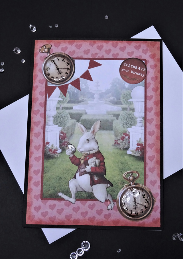 White Rabbit card,Alice card, Fantasy card