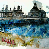 Eastbourne Pier greeting card