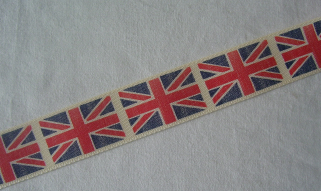 Union Flag ribbon (price per metre)