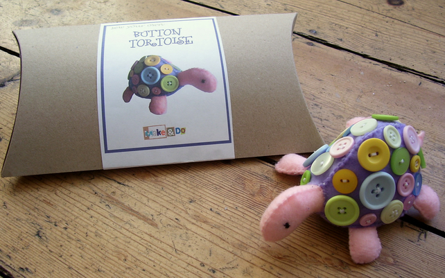 Sew your own button tortoise