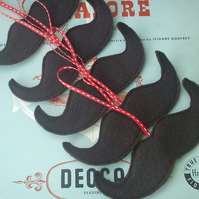 Felt Moustache Christmas Decoration.