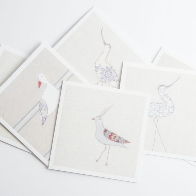 Coastal Greetings Cards Birds  (set of six)