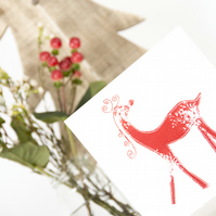 Christmas Cards set of 12 (Robins and Reindeers)