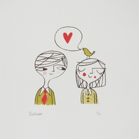 Love Bird 1 - Original Screen Print