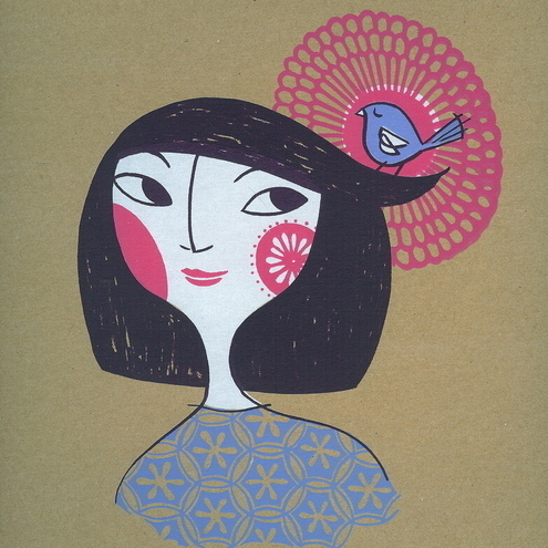 Japanese Spring Girl 1 - Original Screen Print