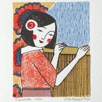 Japanese Rain- Original screen print