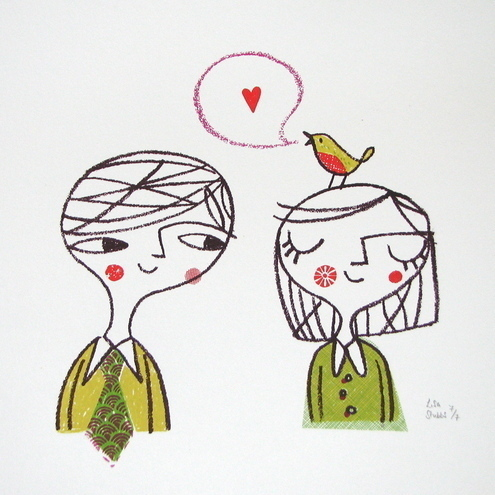 Love Bird - large edition original screen print