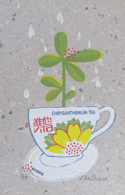 Chrysanthemum tea original screen print