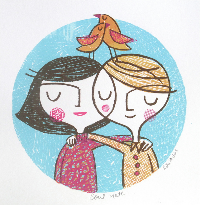 Soul mate original screen print
