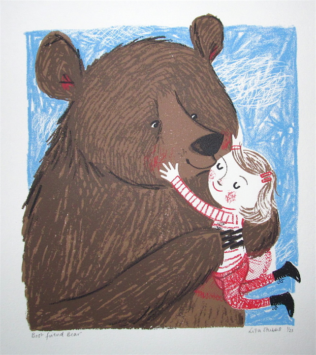 Best friend bear original screen print