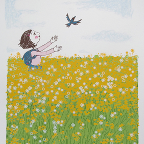Free as a bird original screen print