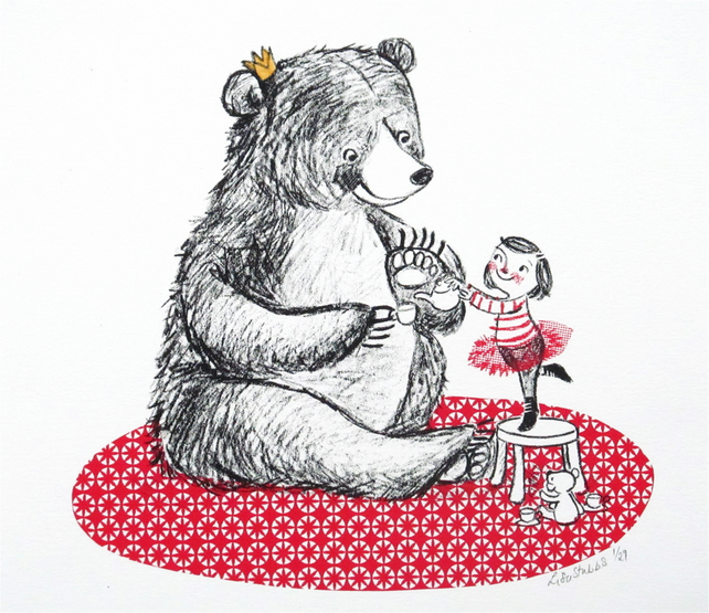 Tea Bear? screen print
