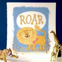 Roar - original screen print