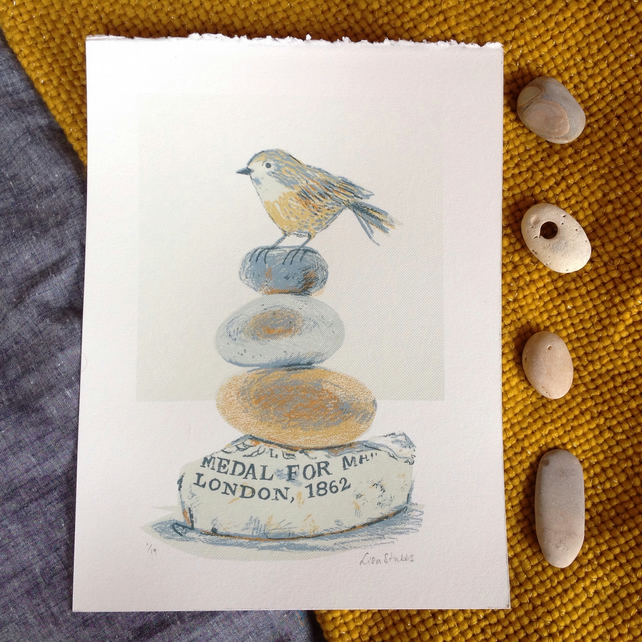 Marmalade bottom cairn original hand pulled screen print