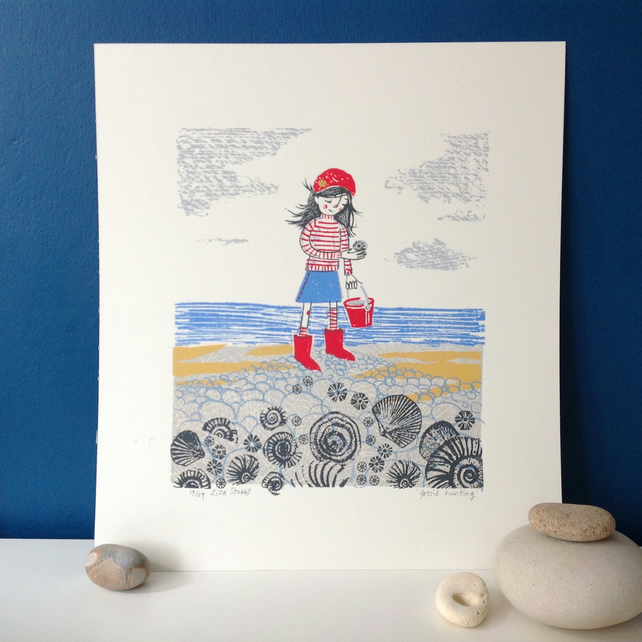 Fossil hunting -Limited Edition screen print