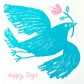 Happy Days, Turquoise Bird, original screen print