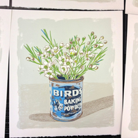 'Waxflower and Baking Powder' original hand pulled screen print