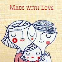 Made with Love original screen print wall art