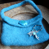 Handmade Felted Handbag With Free Key Charm