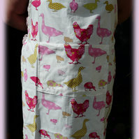 Apron for the fuller busted lady!Chickens and Ducks.