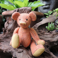 "5"" traditional Teddy Bear in Donegal tweed"
