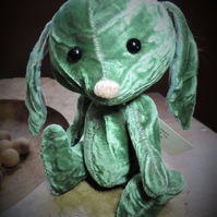 "6"" Hand Sewn Cute Rabbit."