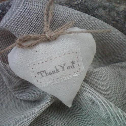 25 Wedding Favour 'thank you' Hearts