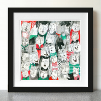 33% Off! There be wolves a coming! 28cm x 28cm Print