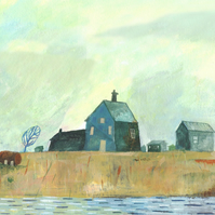 BIG REDUCTION! Ilustration art print, Dungeness (16.5 x 11.7 in A3 size Print)