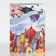 15% off! Greetings card Above the Old Town