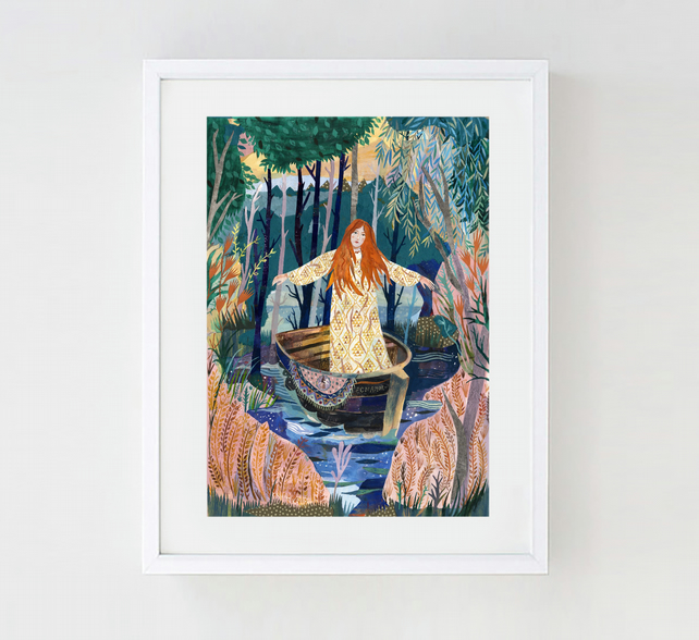 The Lady of Shalott A3 Print (11.69 in x 16.54 in)