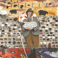 Illustration Art print, Sussex Farm Boy A3 (16.54 in by 11.69 in) Art Print