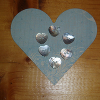 Heart mother of pearl buttons