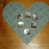 Square mother of pearl buttons