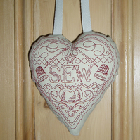 Fabric SEW heart