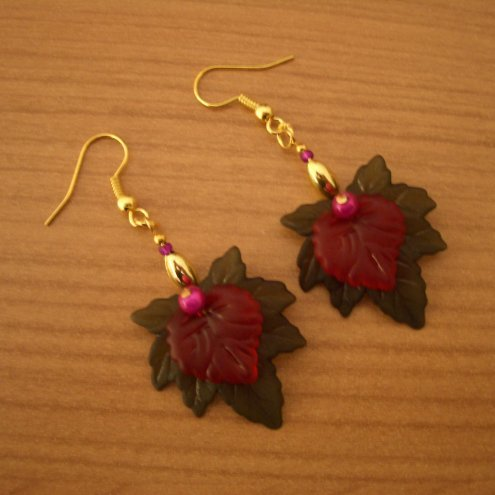 Striking Leaf Earrings